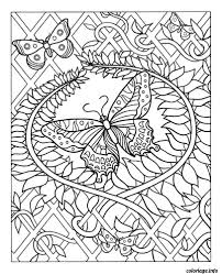 Coloriage Difficile Adulte Papillon Dessin Imprimer Coloriages
