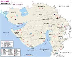 Gujarat Mineral Map Mineral Resources Of Gujarat