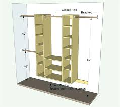 typical closet dimensions