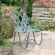 garden metal furniture. verdigris metal gothic garden armchair furniture w
