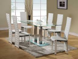 glass dining table and chairs set. glass dining room table set rovigo small chrome and 4 chairs
