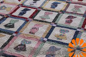 Piece N Quilt: Sunbonnet Sue & Sam Quilt & How adorable is this Sunbonnet Sue & Sam quilt?! Marcia made this adorable  quilt, it's actually the third quilt that she started making over 20 years  ago. Adamdwight.com