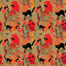 Halloween Pattern Custom Halloween Seamless Pattern With Black Cat Bats Spider Web