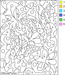 Small Picture Free color by number pages for adults