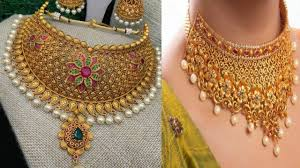Arabic Gold Jewellery Designs Arabic Gold Choker Designs With Weight And Price L Latest
