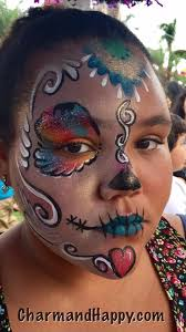 sugar skulls face painter by charmandhappy com