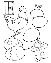 Kids ABC Coloring Pages | Letter E - Free printable farm Alphabet ...