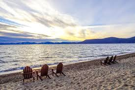 adirondack chairs on beach sunset. Brilliant Chairs Download Lake Tahoe Sunset And Chairs On Beach Stock Image  Of  Adirondack Clean Intended Adirondack