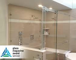 frameless shower door barn roller slider