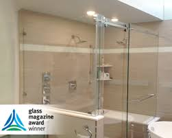 frameless shower door barn roller slider