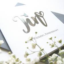 anniversary tin 10th wedding card
