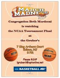 March Madness Flyer March Madness Flyer Copy Congregation Beth Mordecai