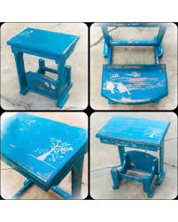 blue shabby chic furniture. Antique, Childs Desk, W/ Folding Seat, Blue, Shabby Chic, Kids Blue Chic Furniture