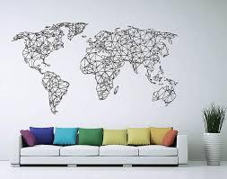 world map wall art pinterest