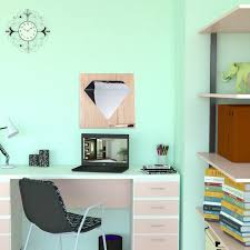 whiteboard for home office. Diamond Shaped Wall Mirror - 3D Sticker Art Decor Personalized Gift Whiteboard For Home Office