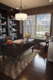 stylish home office furniture. Stylish Home Office With Drum Pendant Light Above Table Desk Furniture A