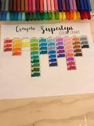 Crayola Supertips 50 Color Chart Color Chart Bullet Journal Amino