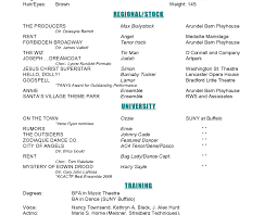 Theatre Resume Format Theater Actor Resume Actor Resume Template