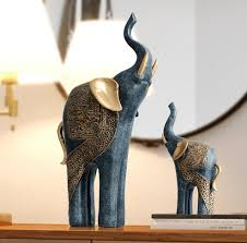 lucky mother baby elephant sculptures