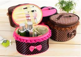 new women multifunction elegant nice lady travel cosmetic bag makeup case pouch toiletry organizer with lace