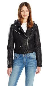 members only women s cropped moto jacket w hood