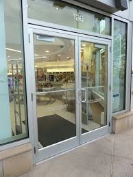 commercial double glass doors overhead door jst511 manual gl roll up windows aluminum frame frosted bathroom