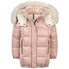 Moncler Kids Size Chart Moncler Girls Pink Down Padded Parana Coat