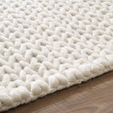 nuloom handmade braided cable white new zealand wool rug 3 x 5 com