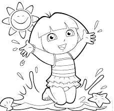 Dora Coloring Pages The Explorer Coloring Pages Collections Free