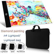 <b>Diamond Painting A4</b> 5D <b>LED</b> Light Pad Set Including Polyester Felt ...