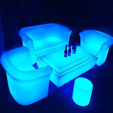 led outdoor furniture light up plastic bar chair