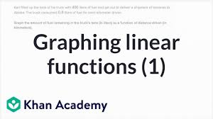 graphing linear functions example 1