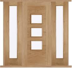 front doors with side panelsArta Oak External Double Side Panel Door Set  External oak doors