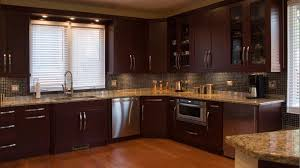 dark cherry wood kitchen cabinets brown varnished wood kitchen island white kitchen painting ideas black dining