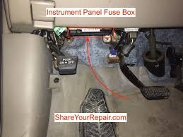toyota sienna fuse locations share your repair instrument panel driver s side fuse box location