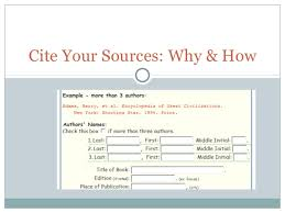 how to cite your sources cite your sources why and how