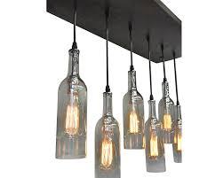 wonderful wine bottles chandelier with wine bottle multi pendant chandelier industrial lightworks