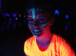Cool Black Light Designs Black Light Face Paint Design For Volleyball Face