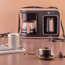 Karaca Hatır Plus 2 in 1 Kahve Makinesi Rosie Brown Fiyatı