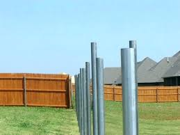 installing wood fence posts best way to install these are aluminum into set concrete be