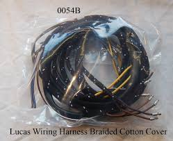 0054b lucas wiring harness braided cotton cover