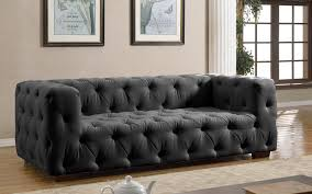 luxurious modern dark grey tufted sofa  sofa mania  black  blue