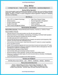 Resume For Medical Billing Examples And Coding Internship Samples