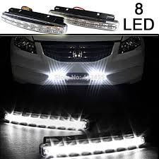Daylight Led Light Bar Us 4 45 Free Shipping New 2pcs Universal Car 8 Led New Daylight Kit Super White 12v Dc Head Lamp In Signal Lamp From Automobiles Motorcycles On