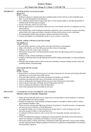 Group Resume Template For A Hotel Hotel Sales Manager Resume Nice