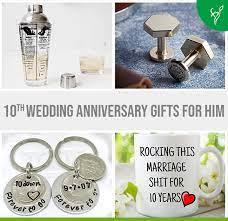 creative 10th wedding anniversary gifts