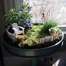 Classy Inspiration Fairy Garden Container Ideas For Indoor With Miniatur  Chair In