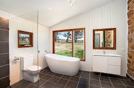 view in gallery steel sheeting used to craft the walls of the bathroom design sandberg schoffel architects