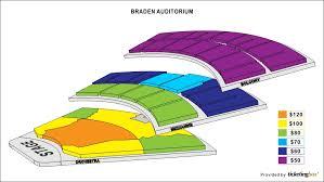 Braden Auditorium Seating Chart Braden Auditorium Seating Chart Normal Il