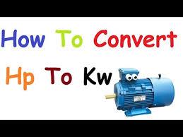 Kw To Hp Conversion Chart Www Bedowntowndaytona Com